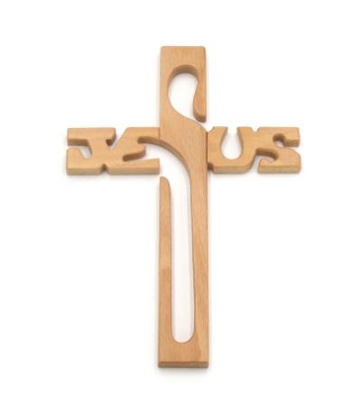 Kríž JESUS malý / V - bledý