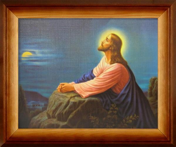Obraz (27425) - Pán Ježiš modliaci na Olivovej hore