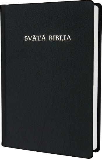 Svätá Biblia / Roháček, koža - čierna