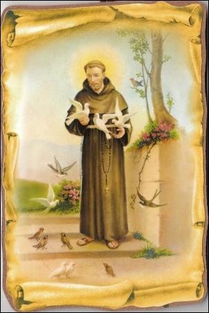 Obraz na dreve: sv. František (140) (15x10)