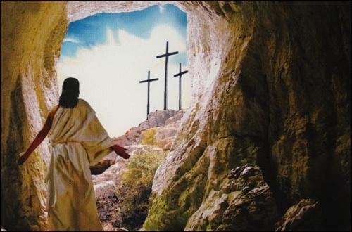 Obraz na plátne: Ježiš vychádza z hrobu