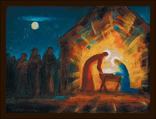 Obraz: Betlehem  30 x 21 cm