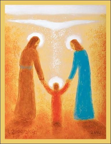 Obraz: Svätá rodina  15 x 10 cm