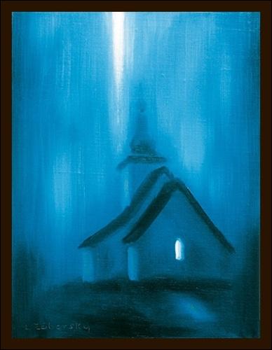 Obraz: Svetlo z hora  30 x 21 cm