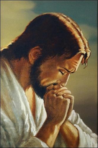 Obraz na plátne: Modliaci sa Ježiš
