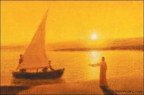 Obraz na plátne: Kristus povoláva Petra a Ondreja za apoštolov