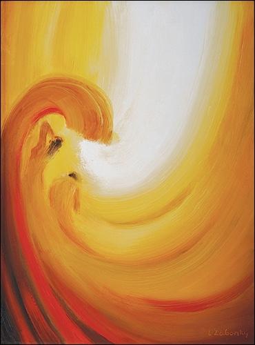 Obraz na plátne: Zápas Boha s peklom o človeka