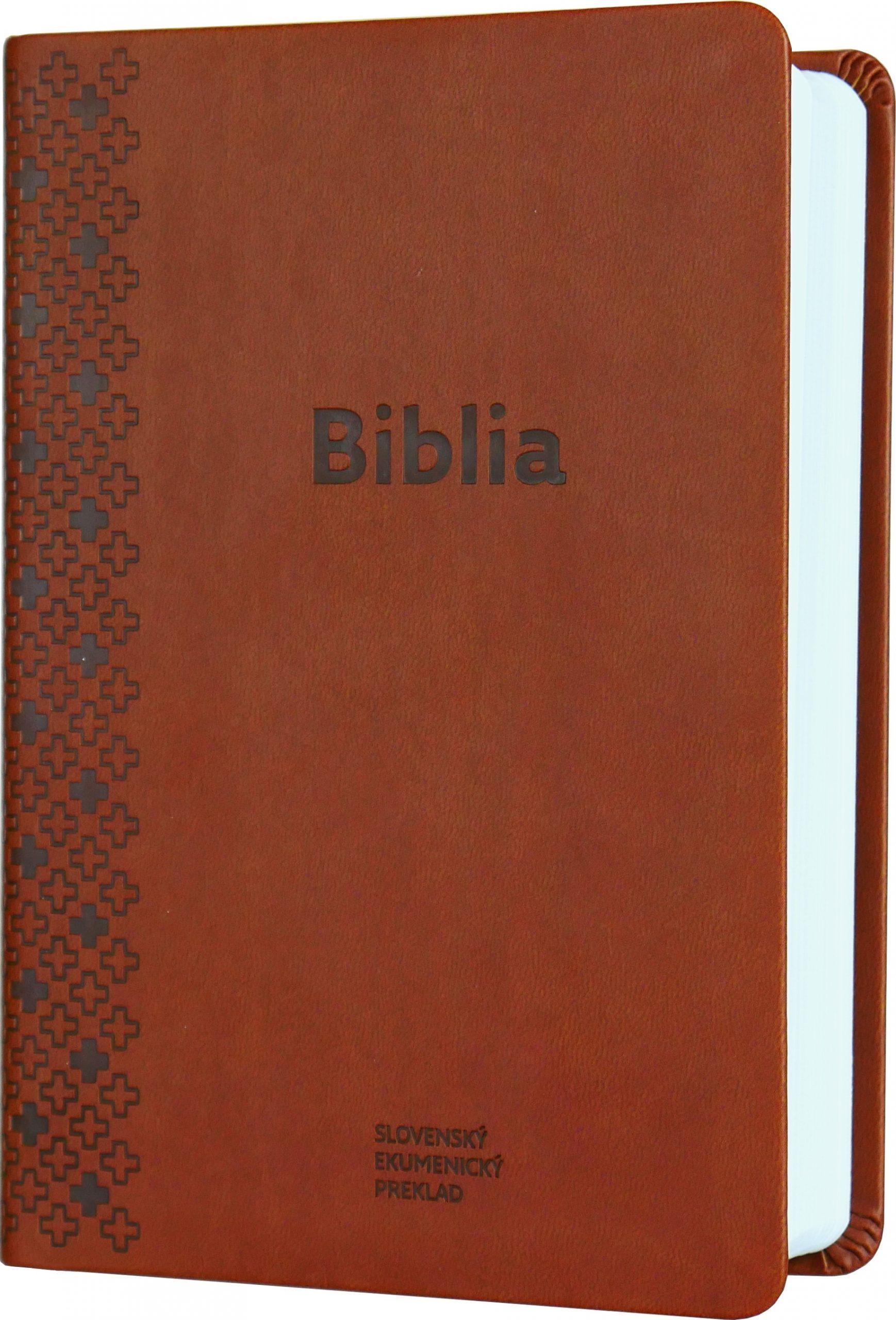 Biblia ekumenická 2018 - hnedá