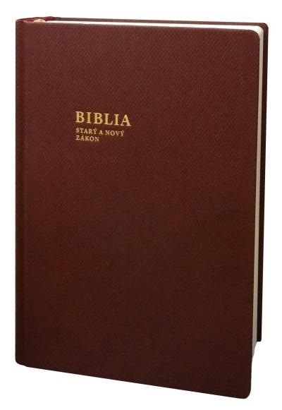 BIBLIA Starý a Nový zákon / SSV - baklažánová