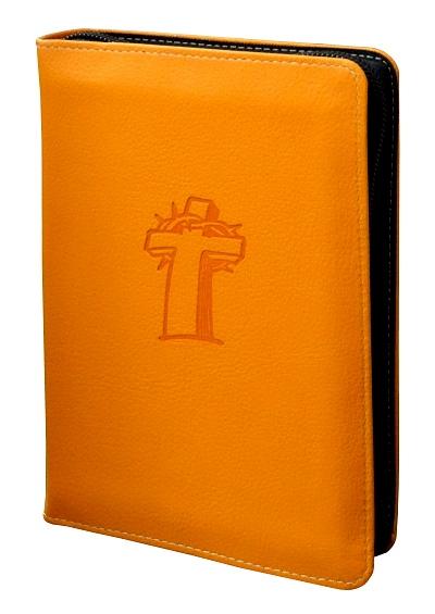 Biblia vrecková so zipsom / ECAV - oranžová