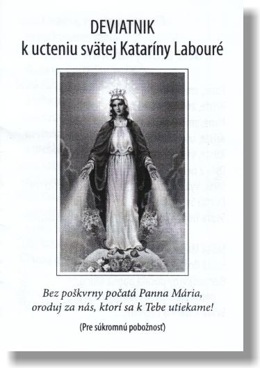 Deviatnik k ucteniu svätej Kataríny Labouré