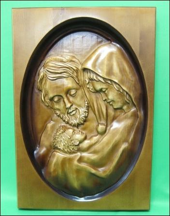 Obraz: drevorezba - Svätá rodina (DR-1B/OP)