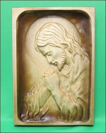 Obraz: drevorezba - Modliaci sa Ježiš (DR-2A)