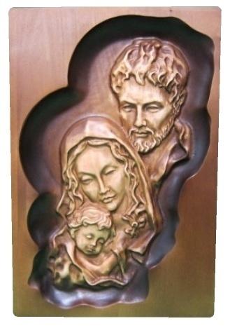 Drevorezba: Obraz - Svätá rodina (DR-65F)