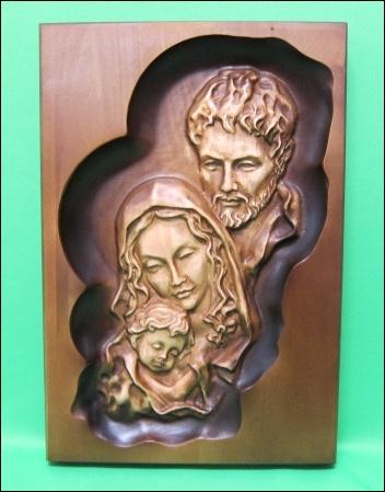 Obraz: drevorezba - Svätá rodina (DR-65A)