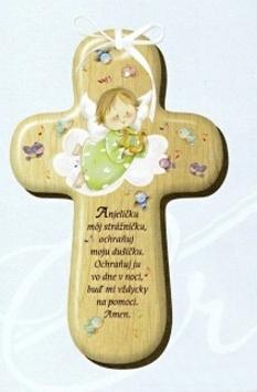 Drevený krížik s modlitbou (CM-1)