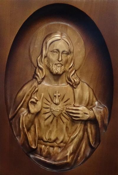 Drevorezba: Obraz - Srdce Pána Ježiša (DR-33A/OP)