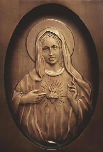 Drevorezba: Obraz - Srdce Panny Márie (DR-34B/OP)
