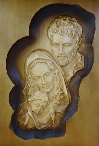 Drevorezba: Obraz - Svätá rodina (DR-65B)