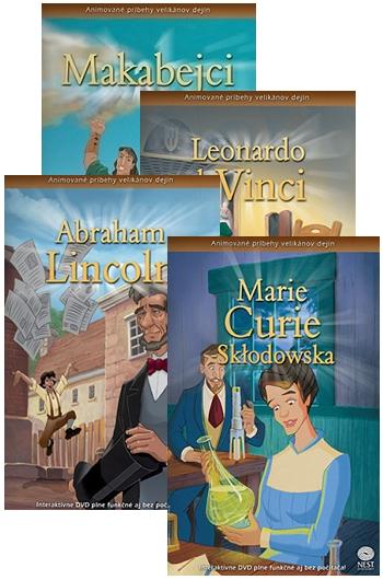 DVD - Animované príbehy velikánov dejín (sada 1)