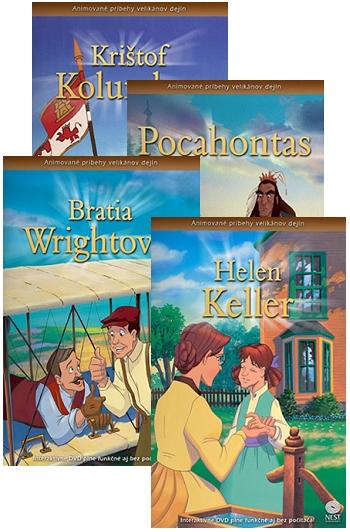 DVD - Animované príbehy velikánov dejín (sada 2)