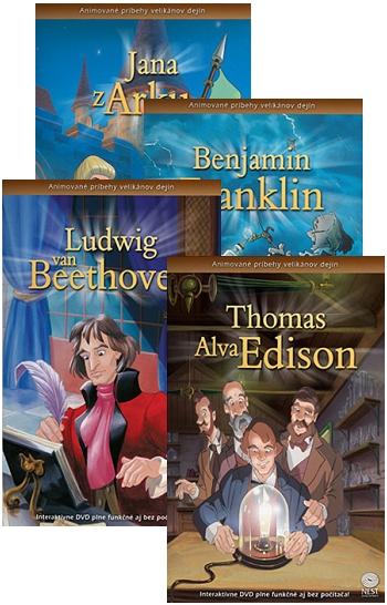 DVD - Animované príbehy velikánov dejín (sada 3)