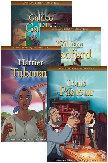 DVD - Animované príbehy velikánov dejín (sada 5)