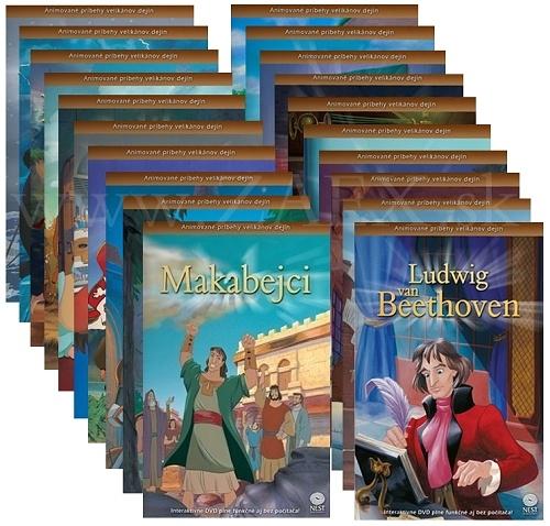 DVD - Animované príbehy velikánov dejín (sada komplet)