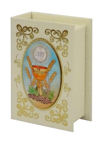 Krabička na ruženec (301) - krémová