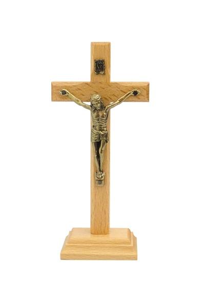 Kríž drev. na postavenie (615) - bledý