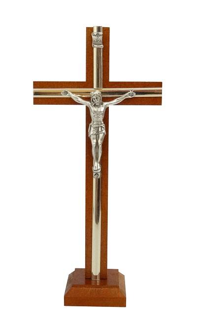 Kríž drev. s lištou na postavenie (KSZ03) - hnedý