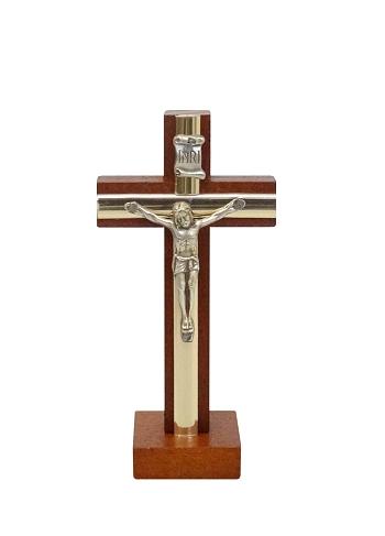Kríž drev. s lištou na postavenie (KSZ005) - hnedý