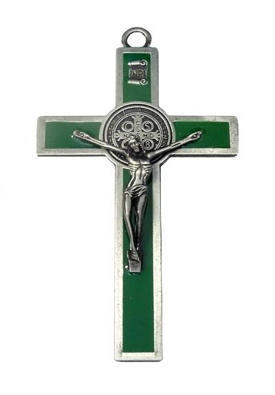 Kríž kov. Benediktínsky (K2063S) - zelený