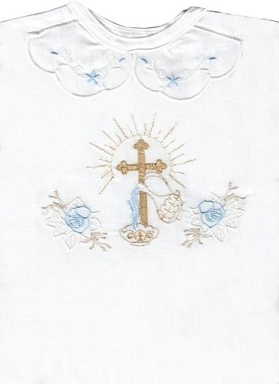 Krstová košieľka (3068) - modrá