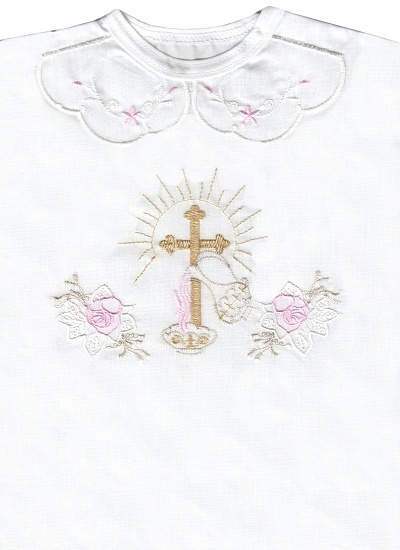 Krstová košieľka (3069) - ružová