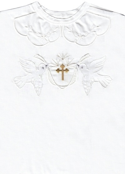 Krstová košieľka (3071) - biela