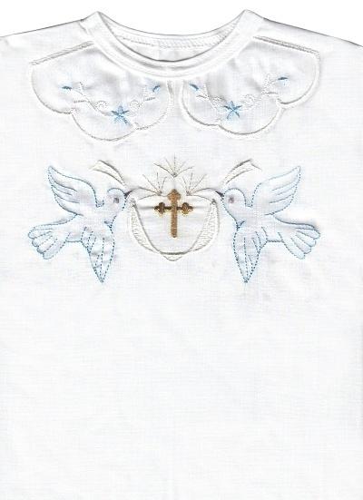 Krstová košieľka (3072) - modrá