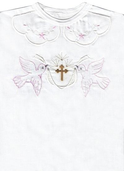 Krstová košieľka (3074) - ružová