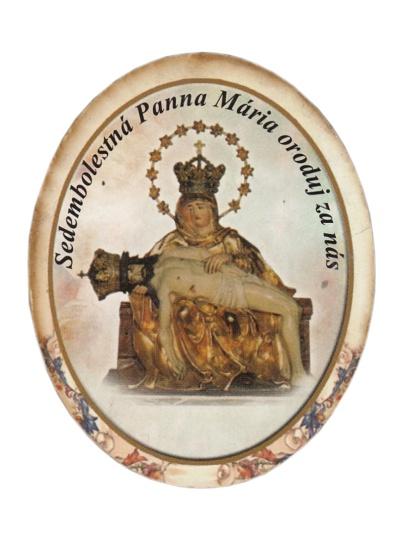 Magnetka drev. (1467/A) - Sedembolestná Panna Mária
