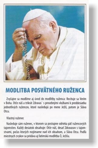 Modlitba posvätného ruženca / JH