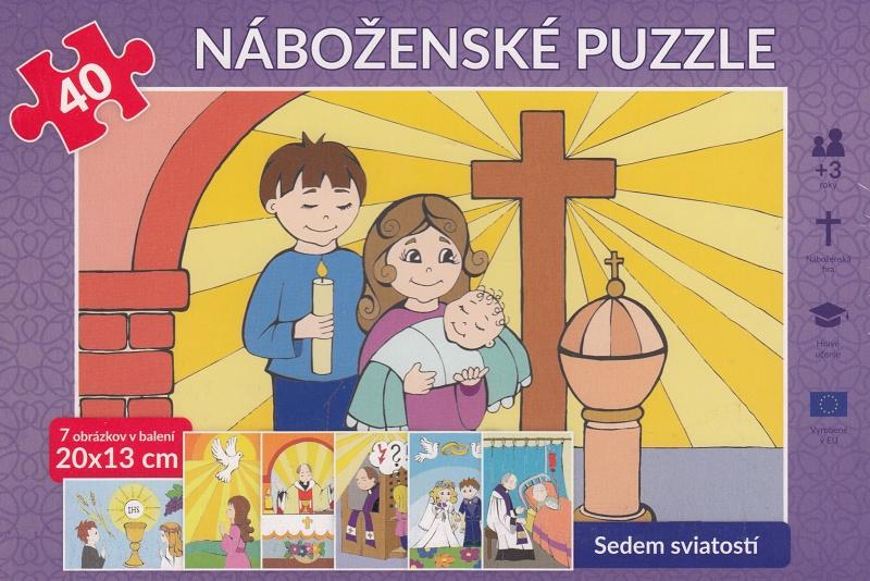 Náboženské puzzle 40 - Sedem sviatostí