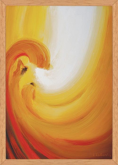 Obraz: Zápas Boha s peklom o človeka (40x30)