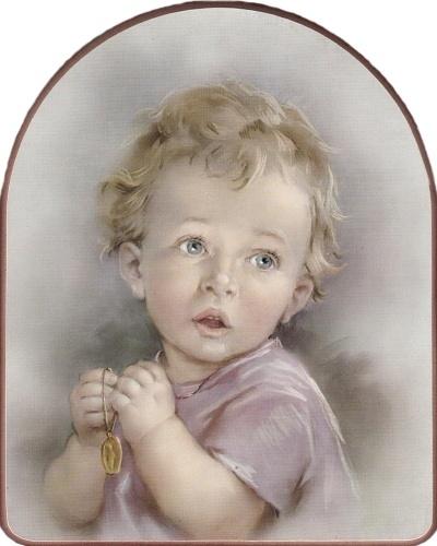 Obraz na dreve (ODDZ003) - Modliace sa dieťa