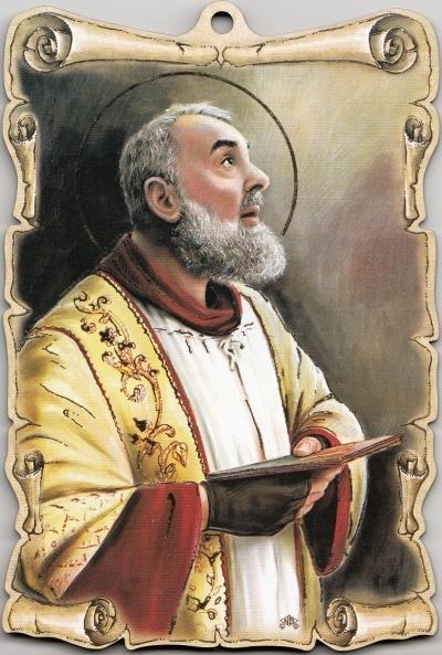 Obraz na dreve: Sv. Páter Pio / Z (15x10)