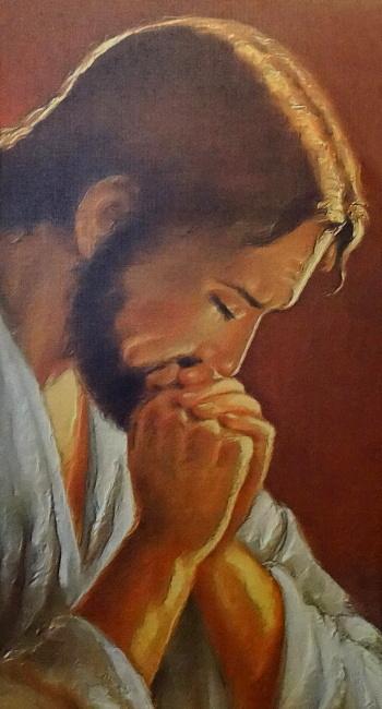 Obraz na plátne (OPZ010) - Modliaci sa Pán Ježiš