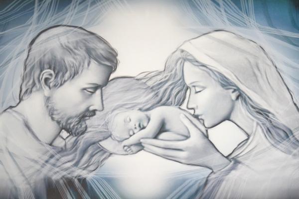 Obraz na plátne: Svätá rodina (OPZ003)