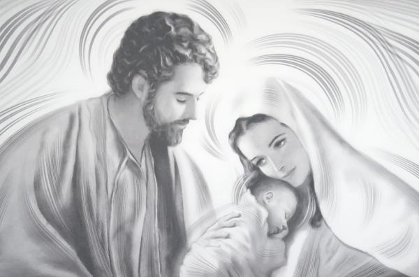 Obraz na plátne: Svätá rodina (OPZ004)