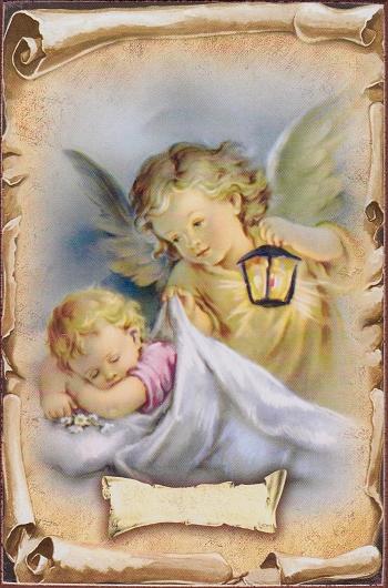 Obraz na dreve (ODDZ002) - Anjel s lampášom