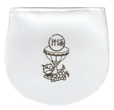 Púzdro na ruženec suchý zips (KRZ009-04) - biele