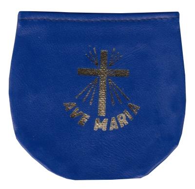 Púzdro na ruženec suchý zips (KRZ009-02) - modré